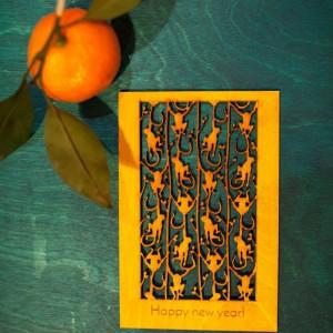BAOBAB: авторская открытка из дерева Обезьянки