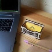 BAOBAB: desktop business card holder made of wood