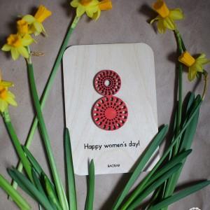 BAOBAB: авторская открытка из дерева 8 Марта