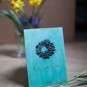 BAOBAB: author card wood flower
