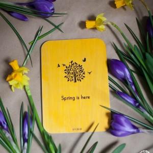 BAOBAB: авторская открытка из дерева весна