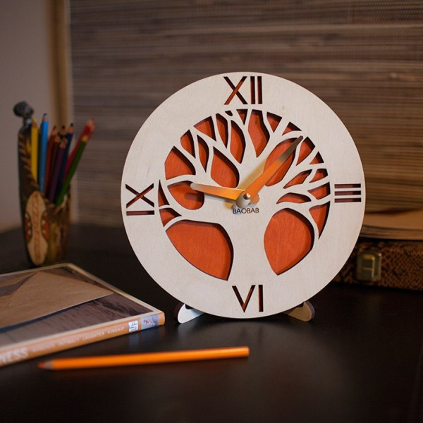 BAOBAB: table clock made of wood Africa