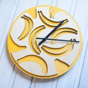 BAOBAB: wall clock made of wood Bananas