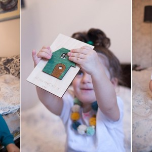 BAOBAB: авторская открытка из дерева с домиком