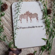 BAOBAB: author card of wood zebra
