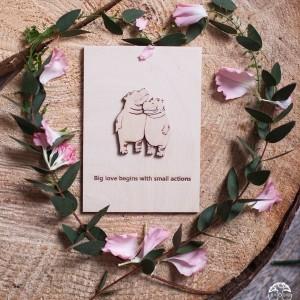 BAOBAB: авторская открытка из дерева любовь