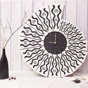BAOBAB: wall clock made of wood Shell