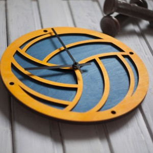 BAOBAB: wall clock made of wood Volleyball
