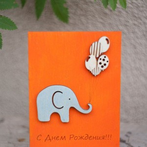 BAOBAB: деревянные открытки с днем рождения