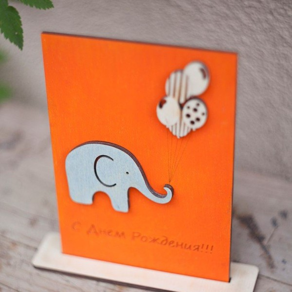 BAOBAB: wooden greeting cards birthday
