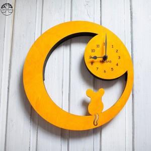 BAOBAB: настенные часы из дерева Мышка