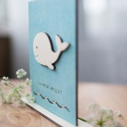 BAOBAB: wooden greeting cards whale and sea