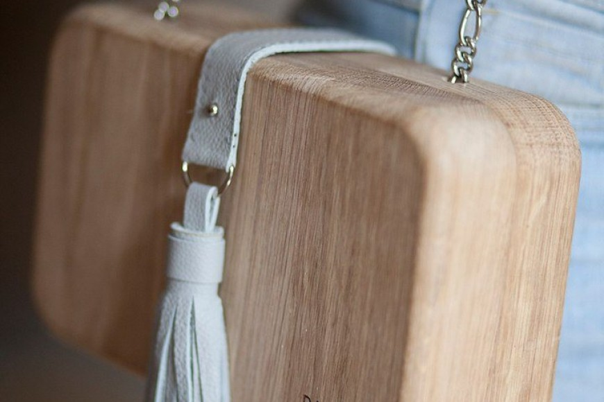 Handbags made of wood