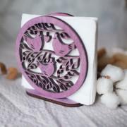 BAOBAB: салфетница из дерева с птицами