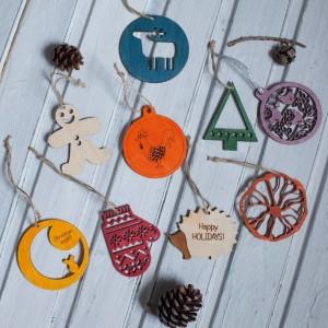 BAOBAB: новогодние игрушки из дерева
