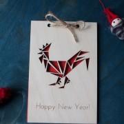 BAOBAB: wooden greeting cards Cockerel
