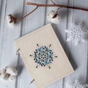BAOBAB: деревянный ежедневник снежинка