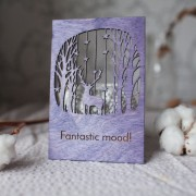 BAOBAB: wooden greeting cards Happy New Year