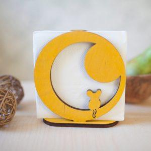 BAOBAB: салфетница из дерева Мышка