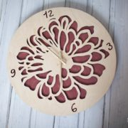 BAOBAB: wall clock made of wood flower