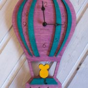 BAOBAB: Wall wooden clock balloon