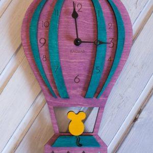 BAOBAB: настенные часы из дерева воздушный шар