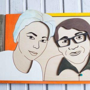 BAOBAB: интерьерное портретное панно из дерева