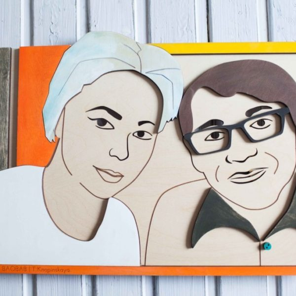 BAOBAB: family portrait made of wood