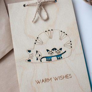 BAOBAB: деревянные открытки с теплыми пожеланиями