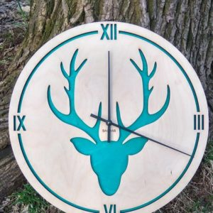 BAOBAB: настенные часы из дерева Олень