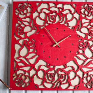 BAOBAB: настенные часы из дерева Роза