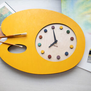BAOBAB: настенные часы из дерева палитра