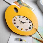 BAOBAB: wall clock wood palette