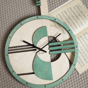BAOBAB: настенные часы из дерева гитара